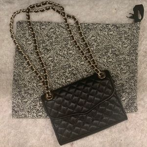 Rebecca Minkoff Black Leather Quilted Crossbody